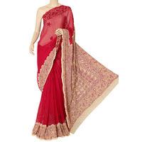 Move - Fawn Lucknowi Chikankari Saree