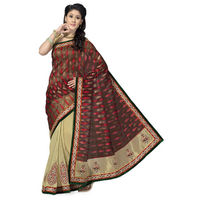 Remarkable Red and Golden Party Wear Saree