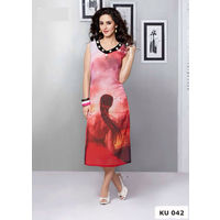 Pink Digital Printed Georgette Kurta