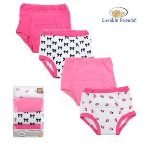 Training Pants Print 4pk, baby girl