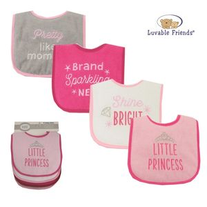 Drooler Bibs 4pk - Princess, baby girl