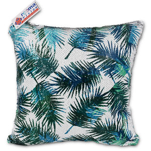 reemavision - Palm leaf Printing Reversible Sequin Cushion Cover, baby boy
