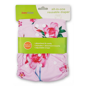 BabyVision - All In One FLOWER Diaper Pack, baby girl