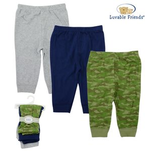 Tapered ankle pants 3pk, baby boy