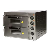 THE URBAN KITCHEN Commercial Double Deck Stone Pizza Oven with Dual Door