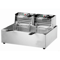 THE URBAN KITCHEN 5000W 20L Electric Countertop Stainless Steel Deep Fryer Single Large Tank Basket Commercial Restaurant