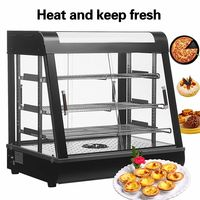THE URBAN KITCHEN Commercial Countertop Hot Food Warmer Display Case for Restaurant Heated Cabinet Pizza Empanda Pastry Patty