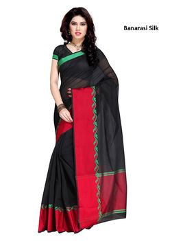 Black Colour Banarasi silk Saree