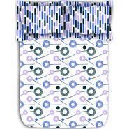 Circular printed cotton bed sheet