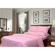 Sateen Stripes Light pink single Bed Sheet Set