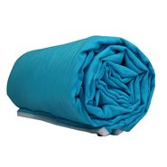 Turquoise blue color double sized dohar, turquoise blue, 90 inches by 100 inches