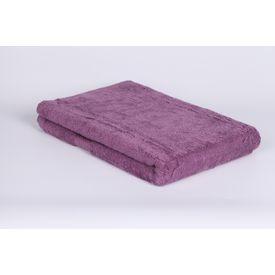 Purple cotton bath towel