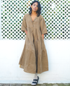 Twofold Check Tiered Dress