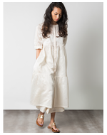 Three Frill Dress, white, s