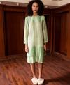 Kanelle Pistachio Dress