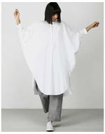 Three Bat Sleeve Dress, white, s
