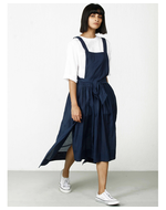 Three Apron Wrap Dress, blue, s