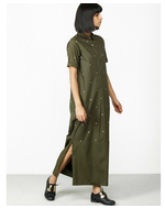Three Structured Dress, green, s