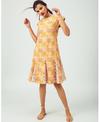 Jodi Salmon Godet Dress