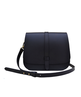 Cord Classic Saddle Bag, black
