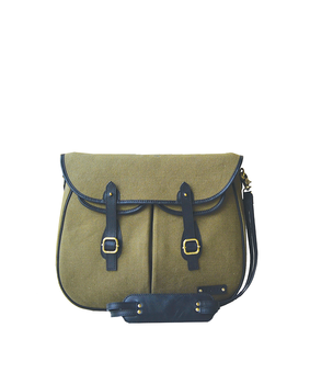Cord Safari Tote Bag, green