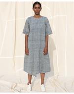 Deform A Line Dress, blue, s