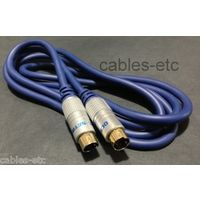 Gold Plated Pure Copper S Video 4 Pin Male to S Video SV Male Cable Lead 1.5 mtr