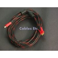 Gold Plated Nylon With Ferrites HDMI Male to HDMI Male Cable 1.3v LCD TV DVD 3m