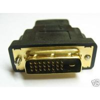 Gold Plated DVI-D Dual Link 24+ 1 25 Pin Male to HDMI Female Adapter Converter
