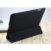 High Grade Polyurethane Full Smart Case Cover Stand For Apple iPad 4 3 2 - Black