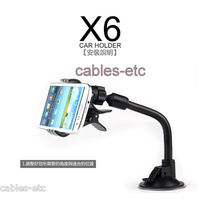 KLD X6 Car Mount Holder Suction Stand For Nokia Lumia 720 520 620 HTC ONE M7 X