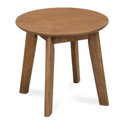 Layla End Table,  light walnut