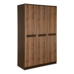 Milos 3 Door Wardrobe With Mirror,  dark walnut