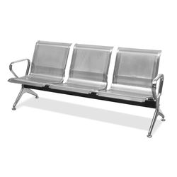 Steelo 3 Seater Bench,  clear