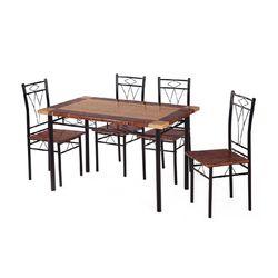 Stratus Dining Set 1+ 4,  black