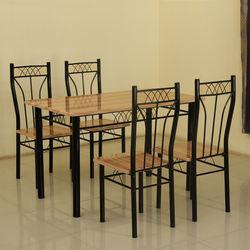 Deluca 1+ 4 Dining Set,  black