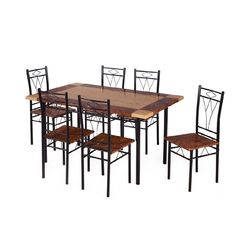 Stratus Dining Set 1+ 6,  black