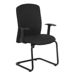 Gary Mid Back Visitor Chair,  black