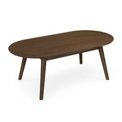 Zoey Coffee Table,  dark walnut