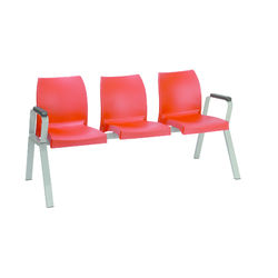 Novella Multi-seater with arm,  bright red