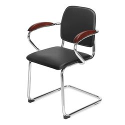 Dominion Visitor Chair,  black