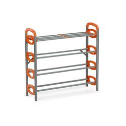 Redley Iron Shoe Rack - 4 Layer,  orange