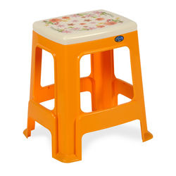 Stool 24 Floral,  daffodil yellow
