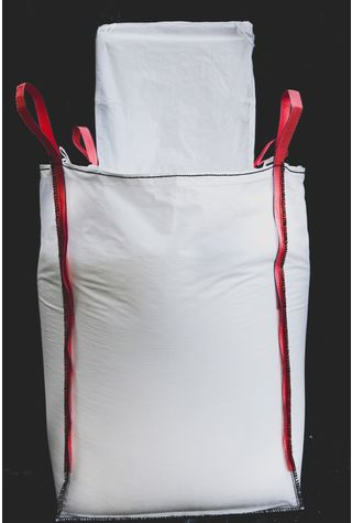 4 Panel Bags, 90x90x90, 1000 kg, 5: 1, Top: Spout, Bottom: Spout