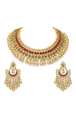 MULTI KUNDAN NECKLACE SET