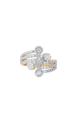 CZ DIAMOND 3 LINE RING