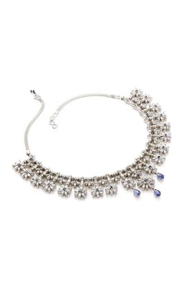 PURPLE STONE CZ DIAMOND CHOKI NECKLACE SET