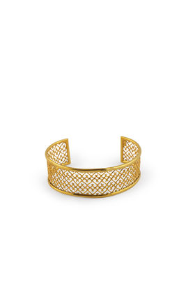 GOLDEN PLATING JALI WORK BRACELET