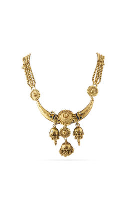 MULTI KUNDAN STONE GOLDEN PLATING AASHNA LONG CHAIN NECKLACE