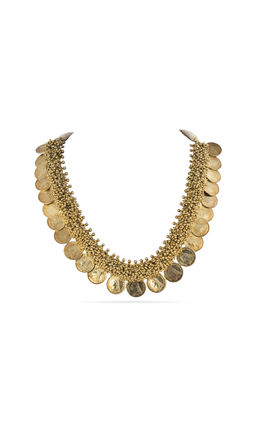 GOLDEN ZUMKIS COIN DESIGN NECKLACE SET